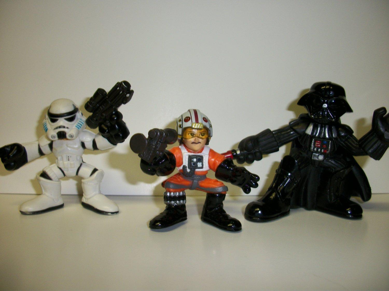 """STAR WARS GALACTIC HEROES """"HELMETS OFF"""" Lot"""