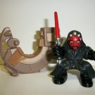 STAR WARS GALACTIC HEROES DARTH MAUL & SPEEDER Figure