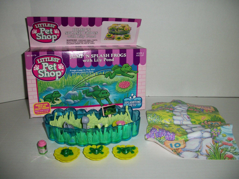 VINTAGE LITTLEST PET SHOP 1994 JUMP N' SPLASH FROGS Set