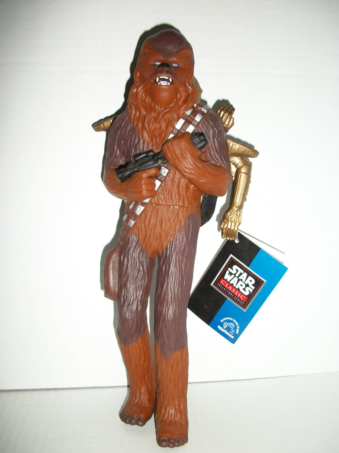 STAR WARS 10in VINYL CHEWIE & C-3PO Figure