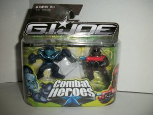 GI JOE COMBAT HEROES SNAKE EYES/ AQUA-VIPER Figures