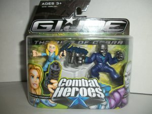 GI JOE COMBAT HEROES COVER GIRL/ DESTRO Figures
