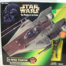 STAR WARS 1997 A-WING Vehicle w/ Figure