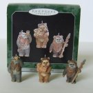 1998 Hallmark Miniature STAR WARS EWOKS Christmas ornaments*
