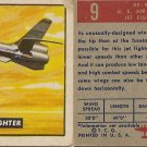 "TOPPS 1952 ""WINGS""  #9 XF-91 Trading Card"