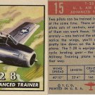 "TOPPS 1952 ""WINGS""  #15 T-28 Trading Card"