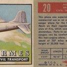 """TOPPS 1952 """"WINGS""""  #20 HERMES Trading Card"""