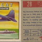 "TOPPS 1952 ""WINGS""  #28 F6F HELLCAT Trading Card"