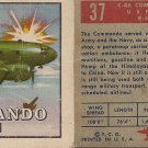 "TOPPS 1952 ""WINGS""  #37  C-46 COMMANDO Trading Card"