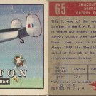 "TOPPS 1952 ""WINGS""  #65 SHACKLETON Trading Card"