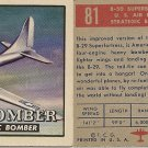 "TOPPS 1952 ""WINGS""  #81 B-50 SUPERBOMBER Trading Card"