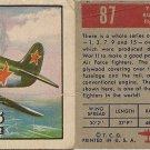 "TOPPS 1952 ""WINGS""  #87 YAK-3 Trading Card"