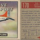 "TOPPS 1952 ""WINGS""  #170 D.H. 104 DOVE Trading Card"
