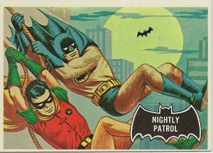 "TOPPS 1966 BATMAN #14 ""NIGHTLY PATROL"" Trading Card"