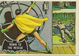 """TOPPS 1966 BATMAN #20 """"ROBIN TO THE RESCUE"""" Trading Card"""