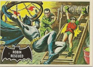 "TOPPS 1966 BATMAN #38 ""ROBIN RESCUED"" Trading Card"