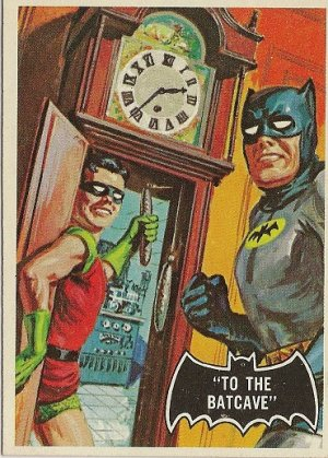 "TOPPS 1966 BATMAN #39 ""TO THE BATCAVE"" Trading Card"