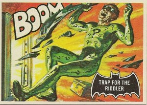 "TOPPS 1966 BATMAN #45 ""TRAP FOR THE RIDDLER"" Trading Card"