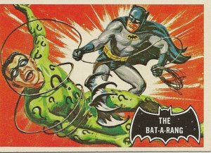 "TOPPS 1966 BATMAN #46 ""THE BATARANG"" Trading Card"