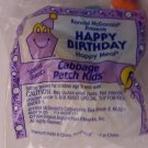McDonalds Happy Meal Happy Birthday Cabbage Patch Kids toy*