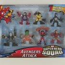 Marvel Super Hero Squad Avengers Attack 7 Figure Multi-Pack*