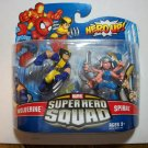 MARVEL SUPER HERO SQUAD WOLVERINE & SPIRAL Figures