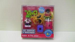 DC Super Friends Trio Robin and The Joker Fisher Price*