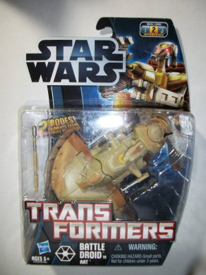 STAR WARS TRANSFORMERS: BATTLE DROID to AAT