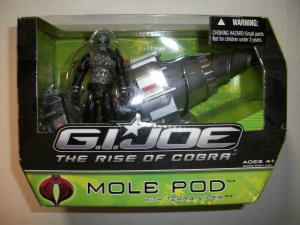 GI JOE RISE of COBRA MOLE POD Vehicle