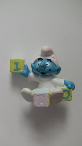 SMURF Baby with Pastel Blocks 1985*