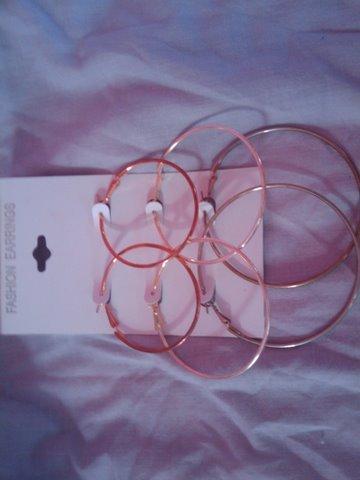 3 pairs of hoops
