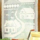 W469 Filet Crochet PATTERN ONLY Countryside Curtain Pattern House Farm Yard