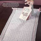 Y833 Crochet PATTERN ONLY Breast Cancer Awareness Table Runner Pattern