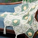 W160 Crochet PATTERN ONLY Texas Rose Floral Lacy Granny Afghan Pattern