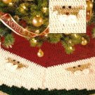 Y322 Crochet PATTERN ONLY Santa Face Christmas Tree Skirt Pattern