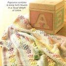 W214 Crochet PATTERN ONLY Little Bobble Flower Garden Afghan Pattern