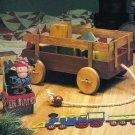 X121 Craft PATTERN ONLY Wood Wagon Toy PC Train Cross Stitch Stocking Patterns