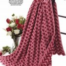 Y174 Crochet PATTERN ONLY Sweetheart Ripple Afghan Throw Heart Motif Pattern
