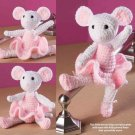 W295 Crochet PATTERN ONLY Ballerina Mouse Toy Doll Pattern