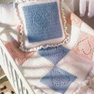 Y383 Crochet PATTERN ONLY Nursery Hearts Baby Blanket & Pillow Patterns