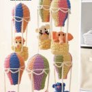 W274 Crochet PATTERN ONLY Balloon Mobile with Animal Friends Patterns