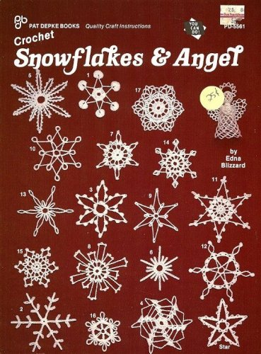 Y032 Crochet PATTERN Book ONLY Crocheted Snowflakes & Angel Christmas Ornaments