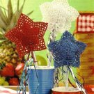 W473 Crochet PATTERN ONLY Patriotic Star Sparklers Ornament Patterns