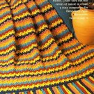 W468 Crochet PATTERN ONLY Cozy Siesta Stripe Afghan Pattern