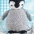 W461 Crochet PATTERN ONLY Fuzzy Baby Penguin Toy Doll Pattern