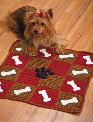W459 Crochet PATTERN ONLY Checkerboard Cat & Dog Pet Mats ...