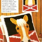 W455 Crochet PATTERN ONLY Palomino Horse Pillow Pattern