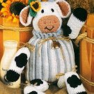 W451 Crochet PATTERN ONLY Bessie the Cow Toy Doll Pattern