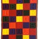 W439 Crochet PATTERN ONLY Alphabet Block Afghan Pattern