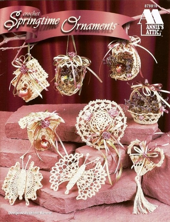 X524 Crochet PATTERN Book ONLY Springtime Ornaments Christmas
